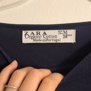 Zara Tops - *4/$25* Zara Blue Organic Cotton Shirt